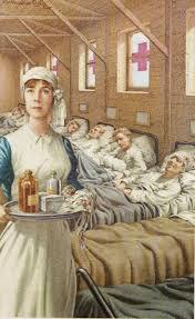 koningin elisabeth verpleegster tekening